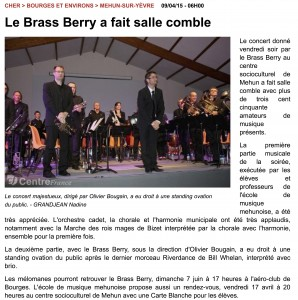 Article du Berry Républicain du 8 avril 2015