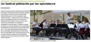 Article de la Nouvelle République du Centre du 01/07/2016 suite au festival de Brass Band à St Nicolas de Bourgueil